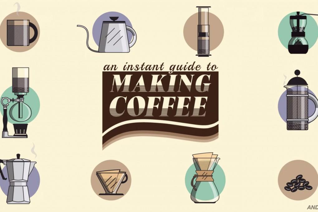 コーヒーの淹れ方 アニメーション